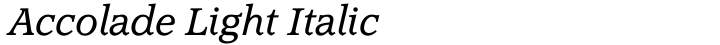 Accolade Light Italic