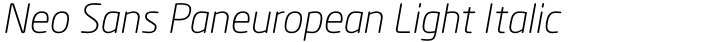 Neo Sans Paneuropean Light Italic