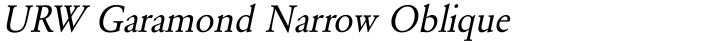 URW Garamond Narrow Oblique