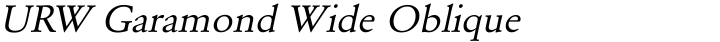 URW Garamond Wide Oblique