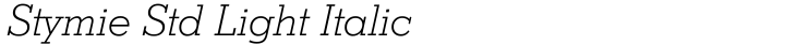 Stymie Std Light Italic